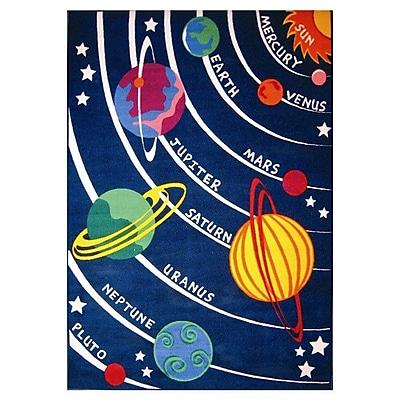 Zoomie Kids Corina Solar System Classroom Area Rug; 8' x 11'