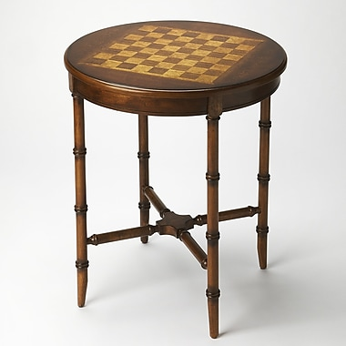 Astoria Grand 21'' Maris Checkers/Chess Table; Plantation Cherry