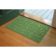 Bungalow Flooring Aqua Shield Light Green Stained Glass Mat; 2' x 3'