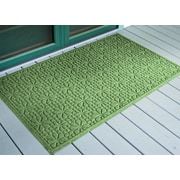 Bungalow Flooring Aqua Shield Light Green Stained Glass Mat; 3' x 5'