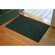 Bungalow Flooring Aqua Shield Evergreen Stained Glass Mat; 2' x 3'