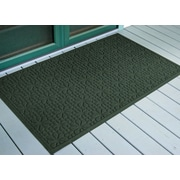 Bungalow Flooring Aqua Shield Evergreen Stained Glass Mat; 3' x 5'