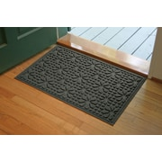 Bungalow Flooring Aqua Shield Charcoal Stained Glass Mat; 2' x 3'