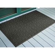 Bungalow Flooring Aqua Shield Charcoal Stained Glass Mat; 3' x 5'