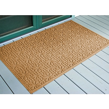 Bungalow Flooring Aqua Shield Gold Stained Glass Mat; 3' x 5'