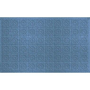 Bungalow Flooring Aqua Shield Bluestone Star Quilt Mat; 3' x 5'