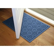 Bungalow Flooring Aqua Shield Medium Blue Star Quilt Mat; 2' x 3'