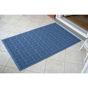 Bungalow Flooring Aqua Shield Medium Blue Star Quilt Mat; 3' x 5'