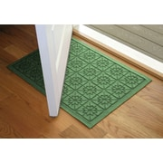 Bungalow Flooring Aqua Shield Light Green Star Quilt Mat; 2' x 3'