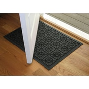 Bungalow Flooring Aqua Shield Charcoal Star Quilt Mat; 2' x 3'