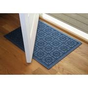 Bungalow Flooring Aqua Shield Navy Star Quilt Mat; 2' x 3'