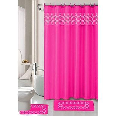 Willa Arlo Interiors Avelaine Shower Curtain Set; Hot Pink