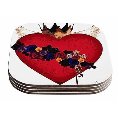 East Urban Home Oriana Cordero 'Sacred Heart For Frida' Coaster (Set of 4)