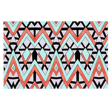 East Urban Home Pom Graphic Design 'Geometric Mountains' Doormat