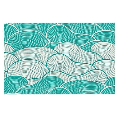 East Urban Home Pom Graphic Design 'The Calm and Stormy Seas' Doormat