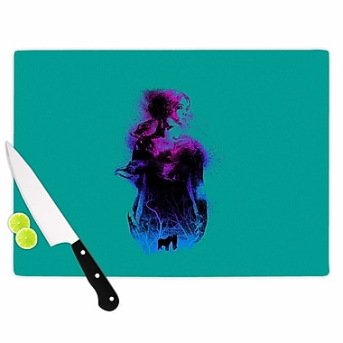 East Urban Home Glass 'Forest Queen People' Cutting Board; 0.25'' H x 15.75'' W x 11.5'' D