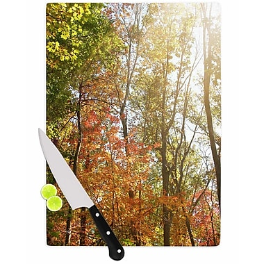 East Urban Home Sylvia Coomes Glass 'Autumn Trees 1' Cutting Board; 0.25'' H x 15.75'' W x 11.5'' D