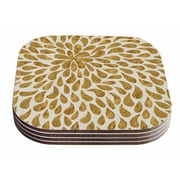 East Urban Home 888 'Abstract Flower' Coaster (Set of 4)