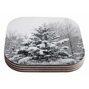 East Urban Home Chelsea Victoria 'Cool Yule' Nature Photography Coaster (Set of 4)