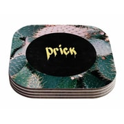 East Urban Home Chelsea Victoria 'Prick' Typography Coaster (Set of 4)