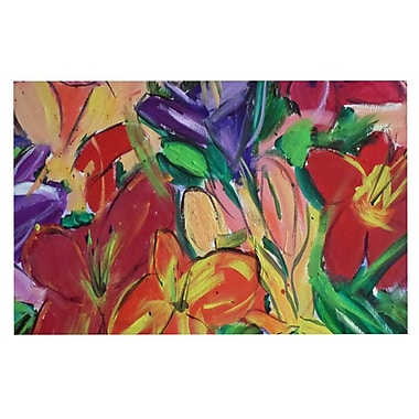East Urban Home Cathy Rodgers 'Matisse Styled Lillies Flower' Decorative Door Mat