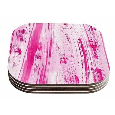 East Urban Home Danii Pollehn 'Stripes' Watercolor Coaster (Set of 4)