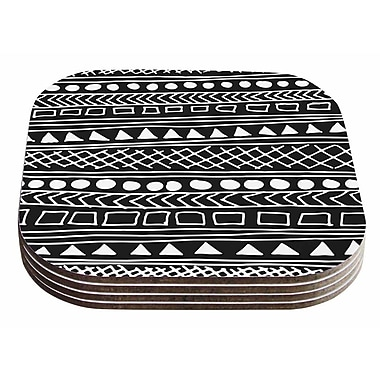 East Urban Home Fimbis 'Redefined BW' Coaster (Set of 4)