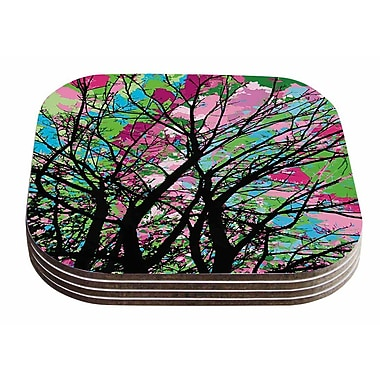 East Urban Home Empire Ruhl 'Tree of Spring 2' Nature Coaster (Set of 4)