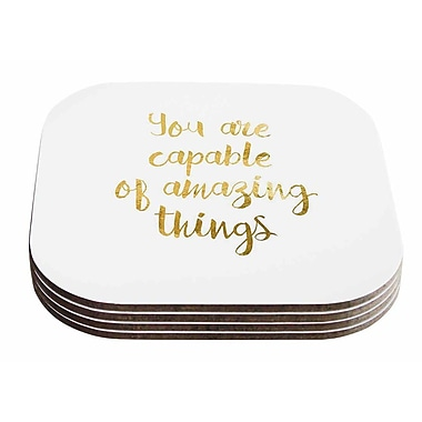East Urban Home NL Designs 'Amazing Things' Coaster (Set of 4)