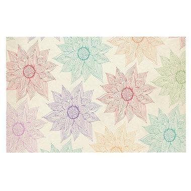 East Urban Home Pom Graphic Design 'Spring Florals' Rainbow Doormat