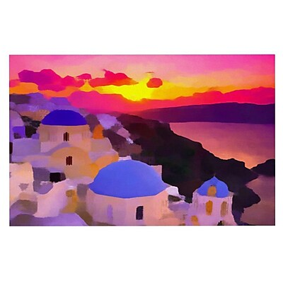 East Urban Home Oriana Cordero 'My Konos' Sunset Doormat
