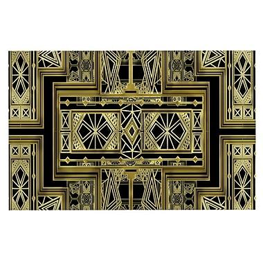 East Urban Home Nika Martinez 'Art Deco' Doormat; Black/Gold