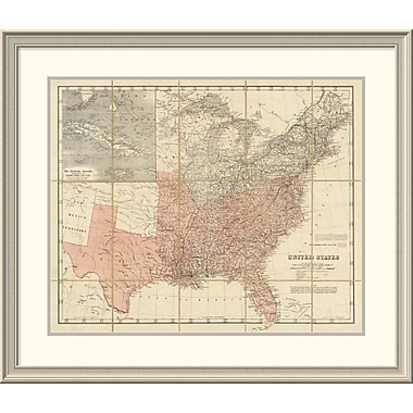 East Urban Home 'United States, 1861' Framed Print; 32'' H x 38'' W x 1.5'' D