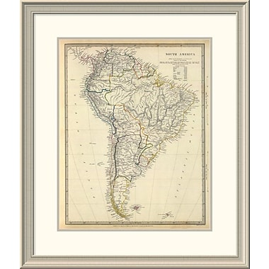 East Urban Home 'South America, 1842' Framed Print; 30'' H x 26'' W x 1.5'' D