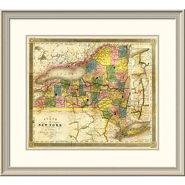 East Urban Home 'State of New York, 1840' Framed Print; 27'' H x 30'' W x 1.5'' D