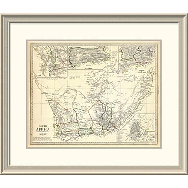 East Urban Home 'South Africa, 1834' Framed Print; 26'' H x 30'' W x 1.5'' D