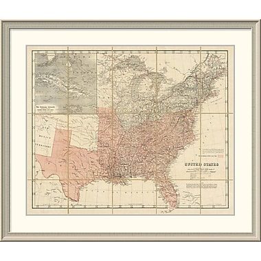 East Urban Home 'United States, 1861' Framed Print; 37'' H x 44'' W x 1.5'' D