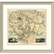 East Urban Home 'Hughes Military Map of Richmond & Petersburgh, Virginia, 1864' Framed Print