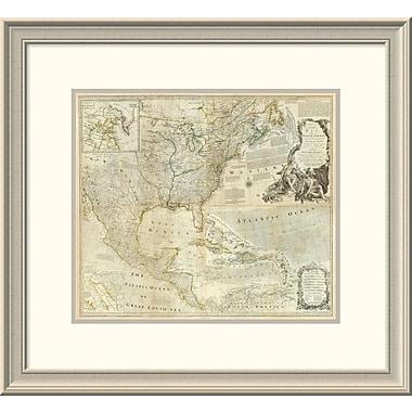 East Urban Home 'Composite: North America, 1776' Framed Print; 22'' H x 24'' W x 1.5'' D