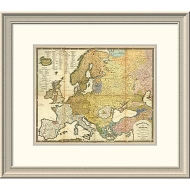 East Urban Home 'Ethnographische Karte Von Europa, 1847' Framed Print; 21'' H x 24'' W x 1.5'' D