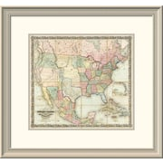 East Urban Home 'Map of the United States of America, 1848' Framed Print; 22'' H x 24'' W x 1.5'' D