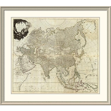 East Urban Home 'Composite: Asia, Islands According to D'Anville, 1787' Framed Print