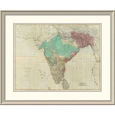 East Urban Home 'Composite: East Indies w/ Roads, 1768' Framed Print; 31'' H x 38'' W x 1.5'' D