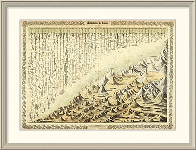 East Urban Home 'Mountains & Rivers, 1856' Framed Print; 33'' H x 44'' W x 1.5'' D