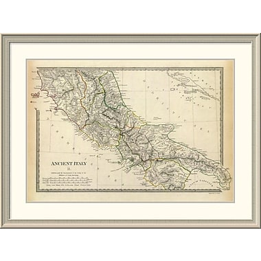 East Urban Home 'Ancient Italy Ii, 1830' Framed Print; 33'' H x 44'' W x 1.5'' D