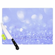 East Urban Home Susan Sanders Glass 'Violet Sparkle Glamour Photography' Cutting Board