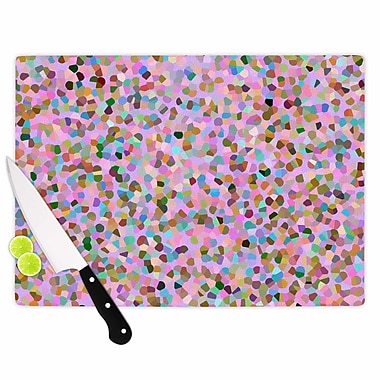 East Urban Home Vasare Nar Glass 'Candy Confetti Abstract' Cutting Board