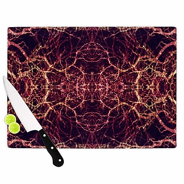 East Urban Home Pia Schneider Glass 'Burning Roots I+VIII Abstract' Cutting Board