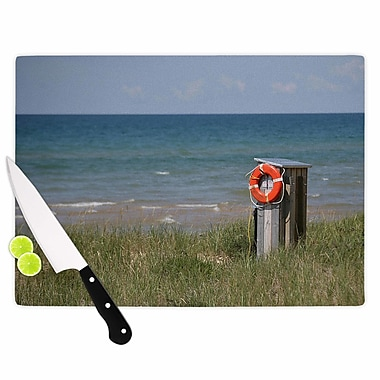 East Urban Home Angie Turner Glass 'Life Saver' Cutting Board; 0.25'' H x 11.5'' W x 8.25'' D
