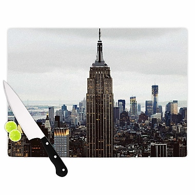 East Urban Home Chelsea Victoria Glass 'New York Stories Travel' Cutting Board